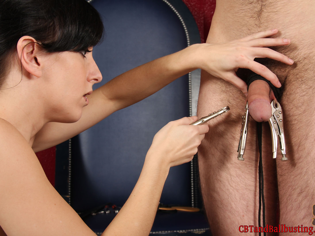 Preview CBT and Ballbusting - Vise Grip Pliers!